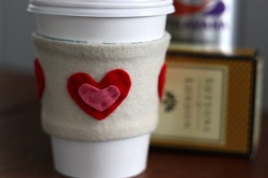 coffee cozy hearts